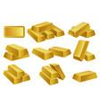 gold bars set banking business prosperity vector image