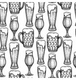 graphic glasses beer vector image