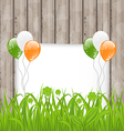 Greeting card with grass and balloons in Irish vector image vector image