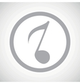 Grey 8th note sign icon vector image vector image