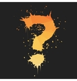 grunge question mark vector image vector image