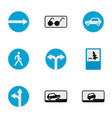 guide sign icons set flat style vector image