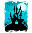 Halloween composition with horror house EPS 10 vector image vector image