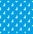 hand hjlding paint brush pattern seamless blue vector image vector image