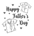happy father day card style vector image vector image