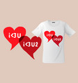 i love you slogan graphic for t-shirt design vector image vector image
