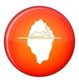 Iceberg icon flat style vector image vector image