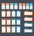 infographic templates with numbers and text vector image