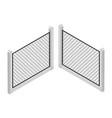 isometric fence isolated on white iron gate fence vector image vector image