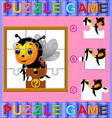 jigsaw puzzle education game vector image