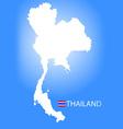 map kingdom thailand vector image
