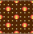 new year 2016 seamless pattern with monkey head vector image vector image