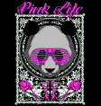 pink life vector image