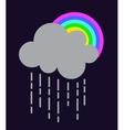 rain cloud vector image