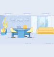 reception room or lobwith area for clients vector image