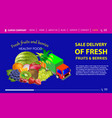 sale delivery fruits and berries vector image vector image
