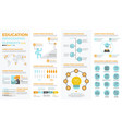 school education infographic elements vector image vector image