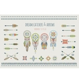 set arrows dream catchers indian elements vector image