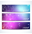 Set of horizontal banners Background vector image vector image