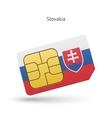 Slovakia mobile phone sim card with flag vector image vector image