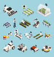 smart farm set vector image vector image