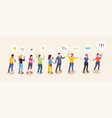 social audience influence concept opinion leader vector image vector image