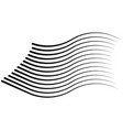 speed lines isolated set sun vector image
