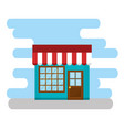 store building facade scene vector image