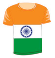 t-shirt flag to india vector image vector image