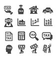 tax icon vector image vector image