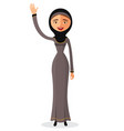 the beautiful muslim woman in a hijab vector image vector image
