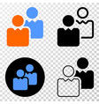 users eps icon with contour version vector image vector image