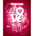 Valentines Day with Love typography vector image