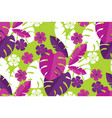 vibrant bright simple tropical leaves pattern vector image vector image