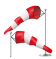 windsock realistic meteorology windsock vector image