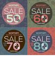 Women Tennis Apparel Sale vector image vector image