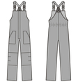Work overalls vector image vector image