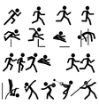 Sport Pictogram Icon Set 02 Track and Field vector image