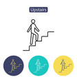upstairs icon sign vector image