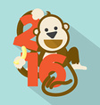2016 Cute Monkey vector image vector image
