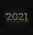 2021 merry christmas and happy new year golden vector image vector image