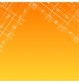 Architectural orange background vector image vector image