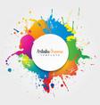 artistic frame banner colorful design vector image vector image