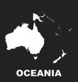 australia and oceania map icon flat