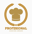 award cook chef hat restaurant icon button set vector image vector image