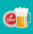beer beverage drink isolated vector image vector image