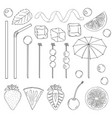 big collection of elements for the decor of vector image vector image