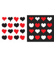 big hearts icons set st valentines day february vector image