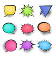 bright mesh color retro comic speech bubbles vector image