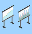 business chart board set of graphs data vector image vector image